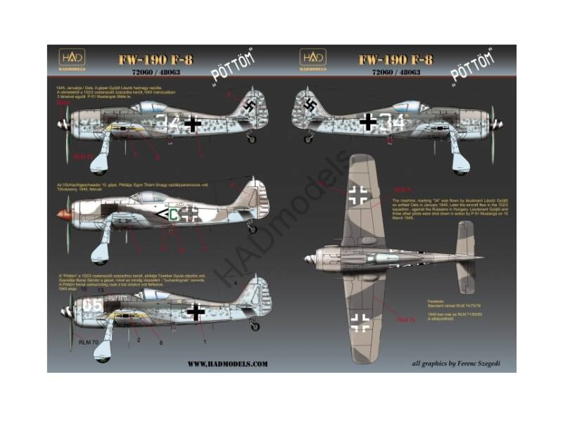 HADmodels Fw-190F-8 matrica 1:72 (72060)