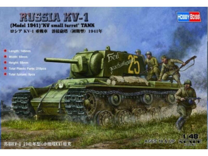 Hobby Boss Russian KV-1 1941 Small Turret tank 1:48 (84810)