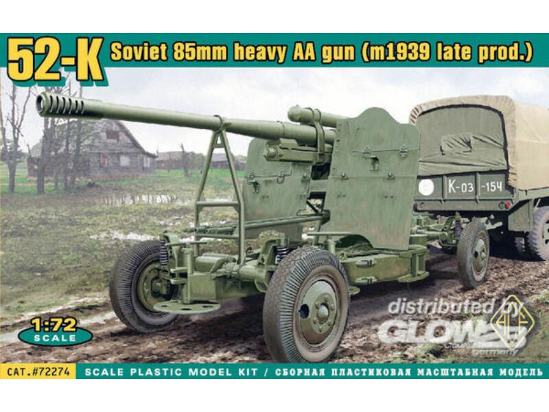 ACE 52-K 85mm Soviet heavy AA gun 1939 late 1:72 (ACE72274)