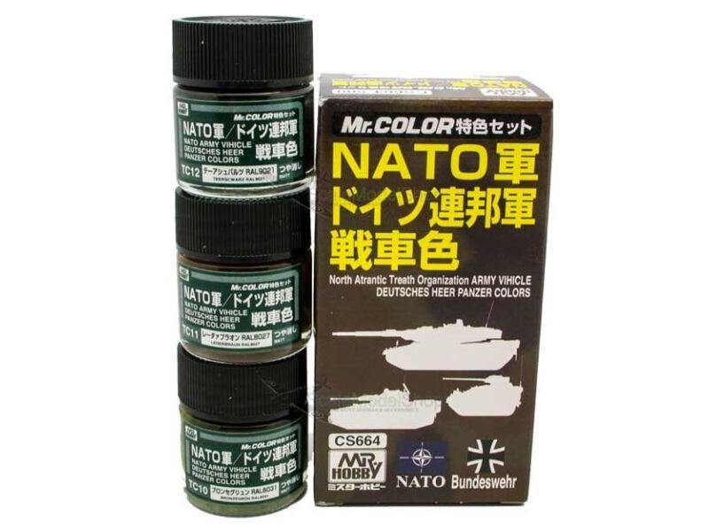 Mr.Hobby Tank Color Set for NATO CS-664