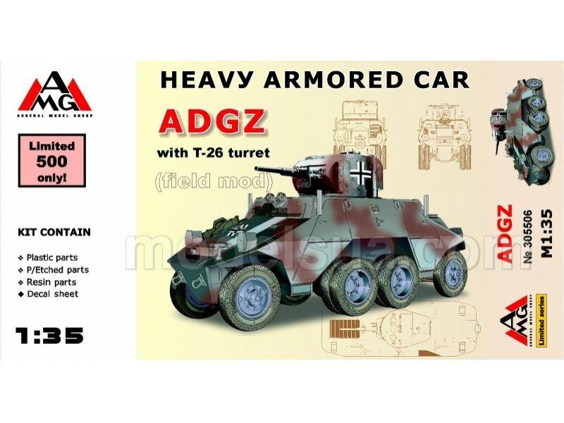 AMG Heavy Armored Car ADGZ with T-26 turret( field mod) 1:35 (AMG35506)