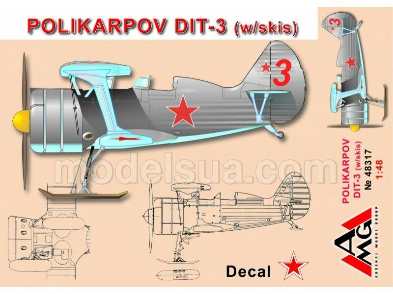 AMG Polikarpov DIT-3 (w/skis) 1:48 (AMG48317)