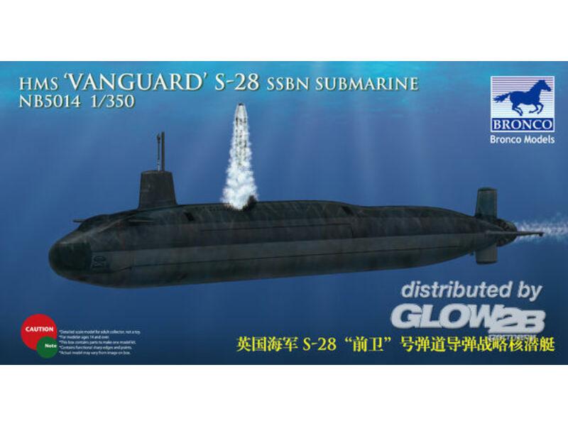 Bronco HMS-28'Vanguard'SSBN Submarine 1:350 (NB5014)