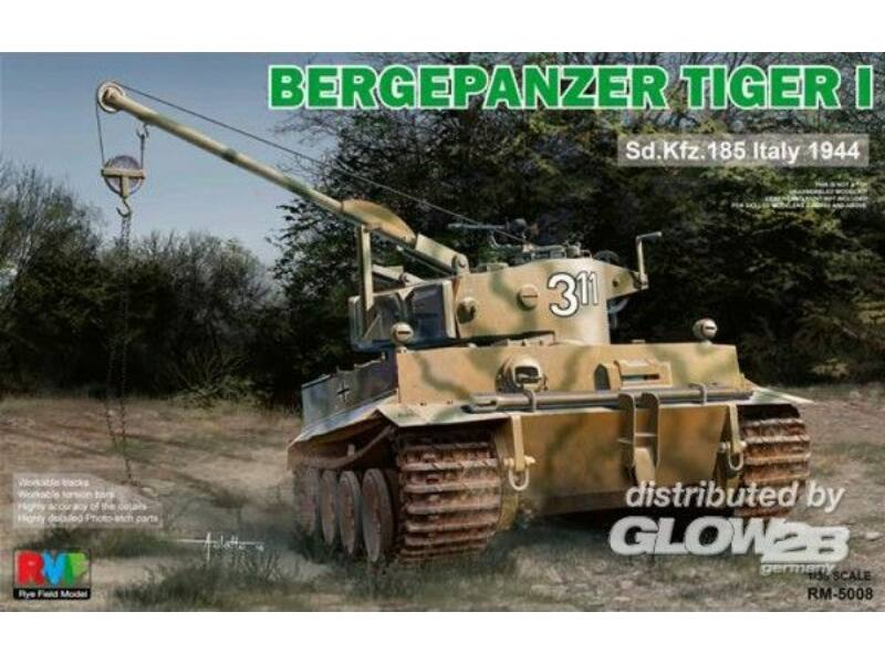 Rye Field Model Bergepanzer Tiger I Sd.Kfz.185 Italy 1944 1:35 (5008)
