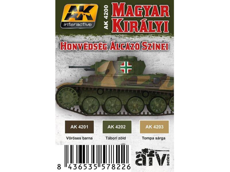 AK Magyar harckocsik álcázó színei akril festék szett. (AK4200)