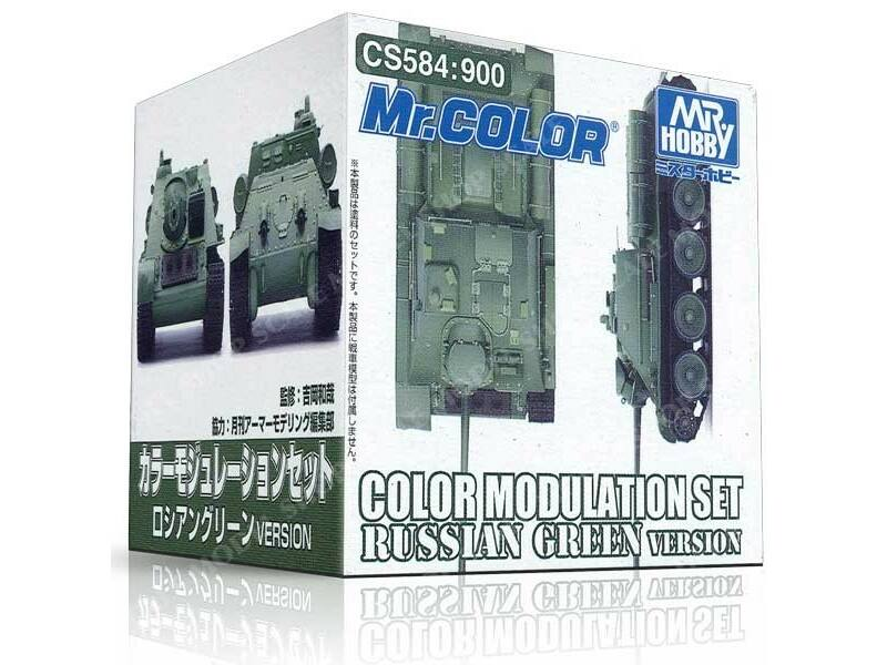 Mr.Hobby Color Modulation Set Russian Green Ver. CS-584