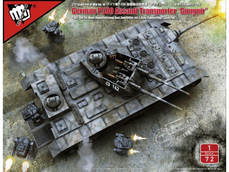 """Modelcollect Fist of War German P.500 """"Gungnir"""" 1:72 (UA72180)"""