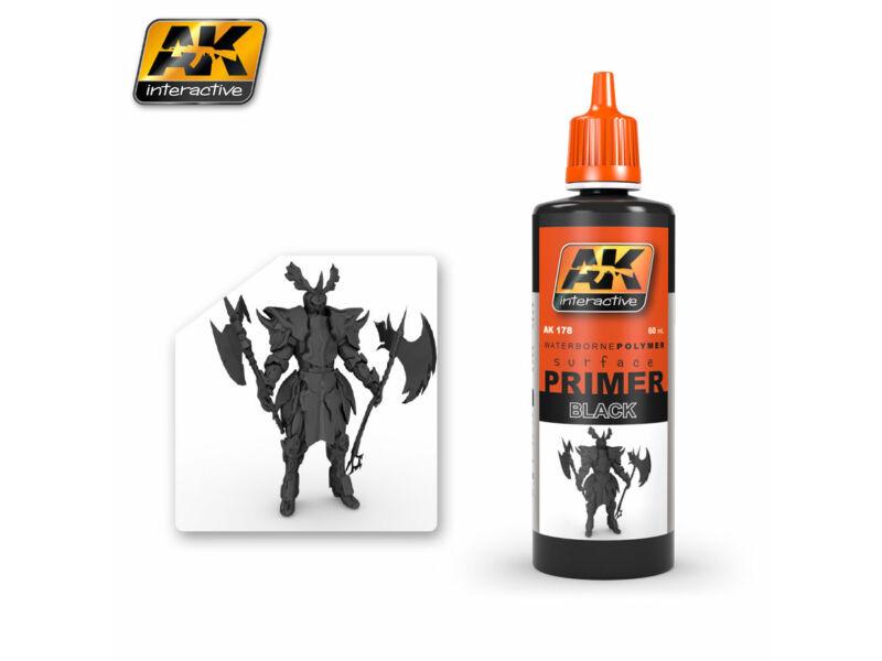 AK Surfacer Black Primer (fekete alapozó) AK178