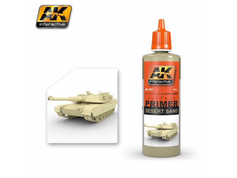 AK Surfacer Desert Sand Primer (sivatagi színű alapozó) AK181