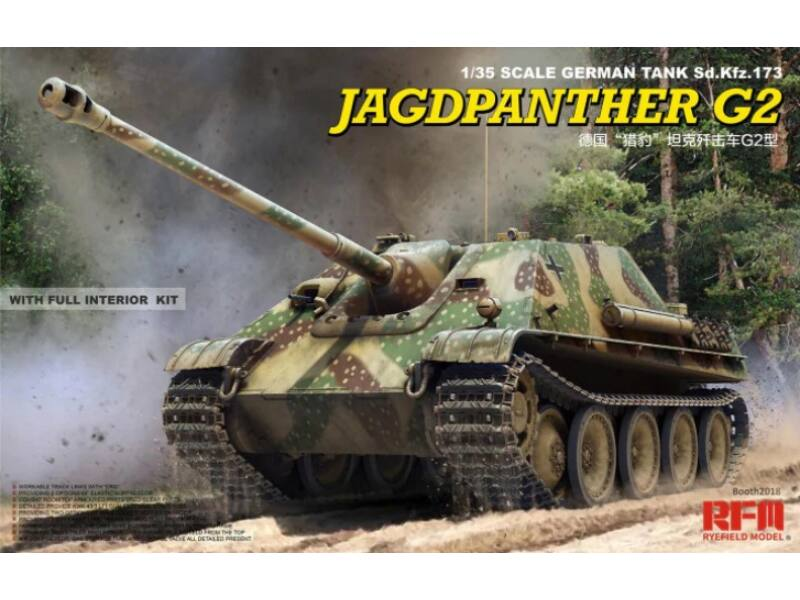 Rye Field Model Jagdpanther G2 with full interior