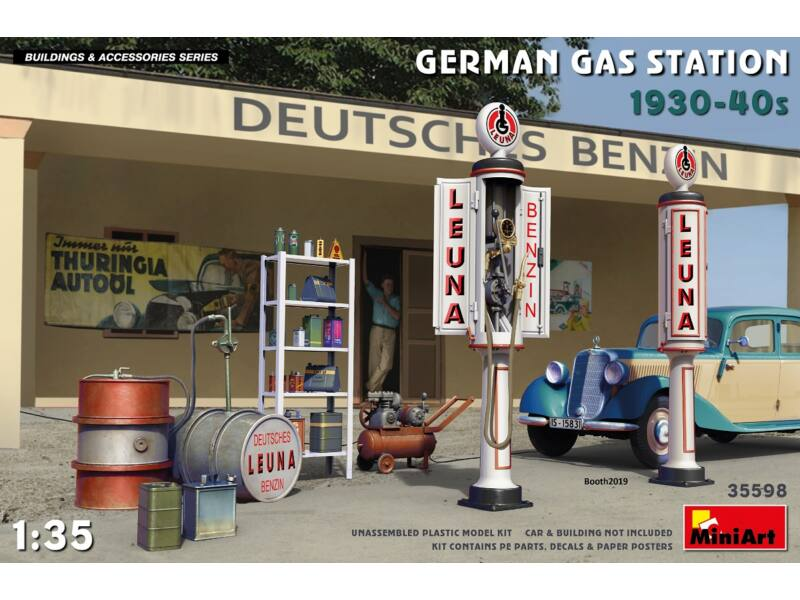 MiniArt German Gas Station 1930-40s 1:35 (35598)