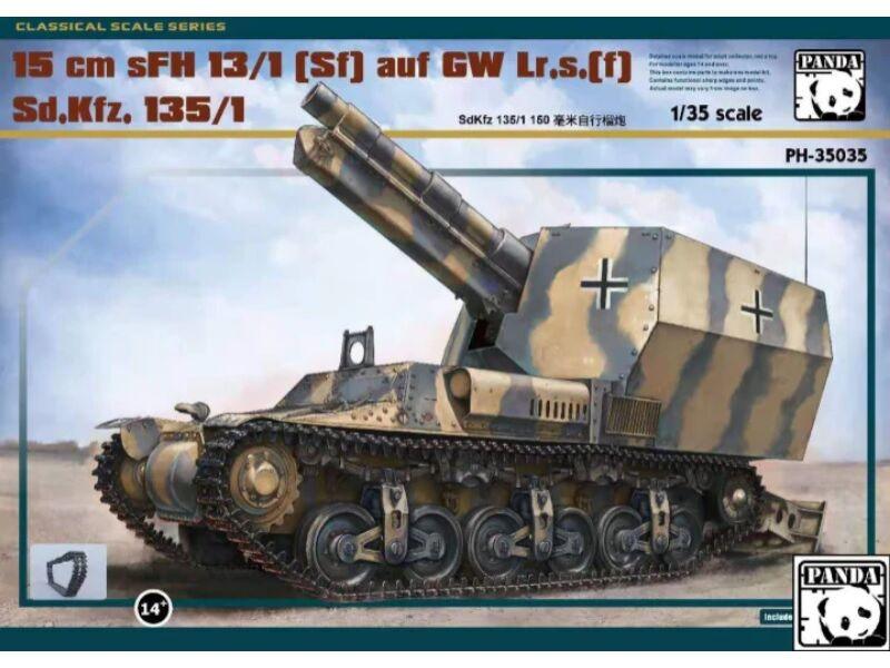 PANDA Hobby 15cm Slg. s.F.H.13 Krupp L17 1:35 (35035)