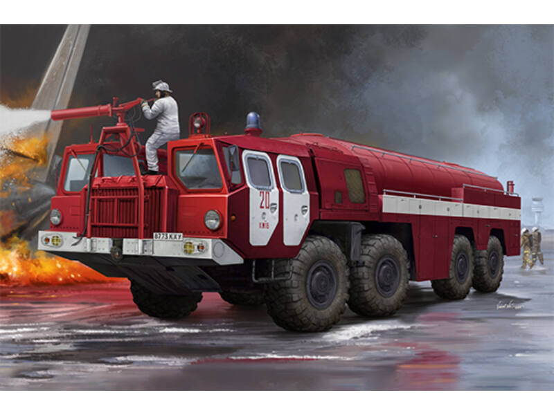 Trumpeter Airport Fire Fighting Vehicle AA-60 (MAZ-7310) 160.01 1:35 (01074)