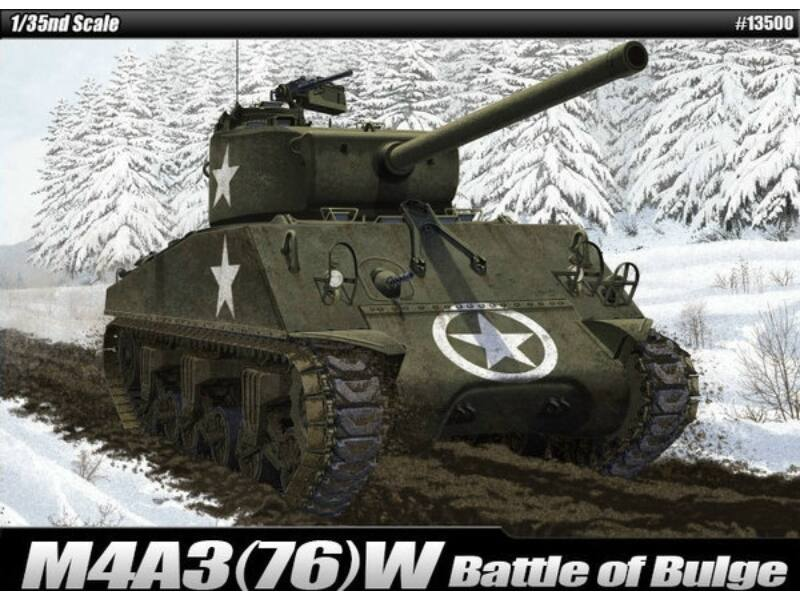 Academy M4A3(76)W US Army Battle of Bulge 1:35 (13500)