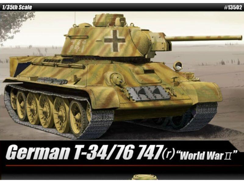 Academy T-34/76 747(r) German Version 1:35 (13502)