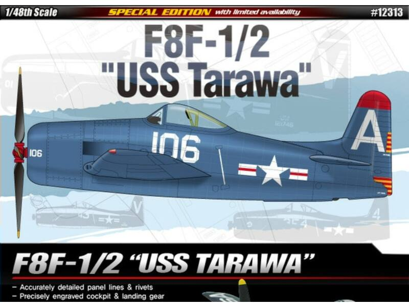 Academy F8F-1/2 USS Tarawa 1:48 (12313)