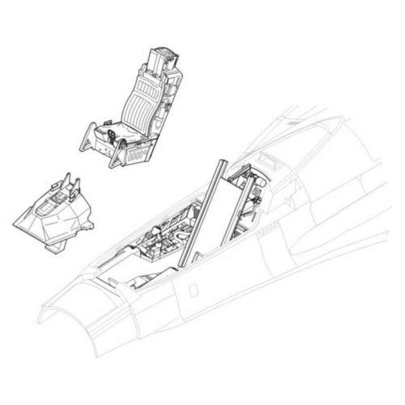 CMK F-16CJ - interior set for HAS 1:32 (5006)