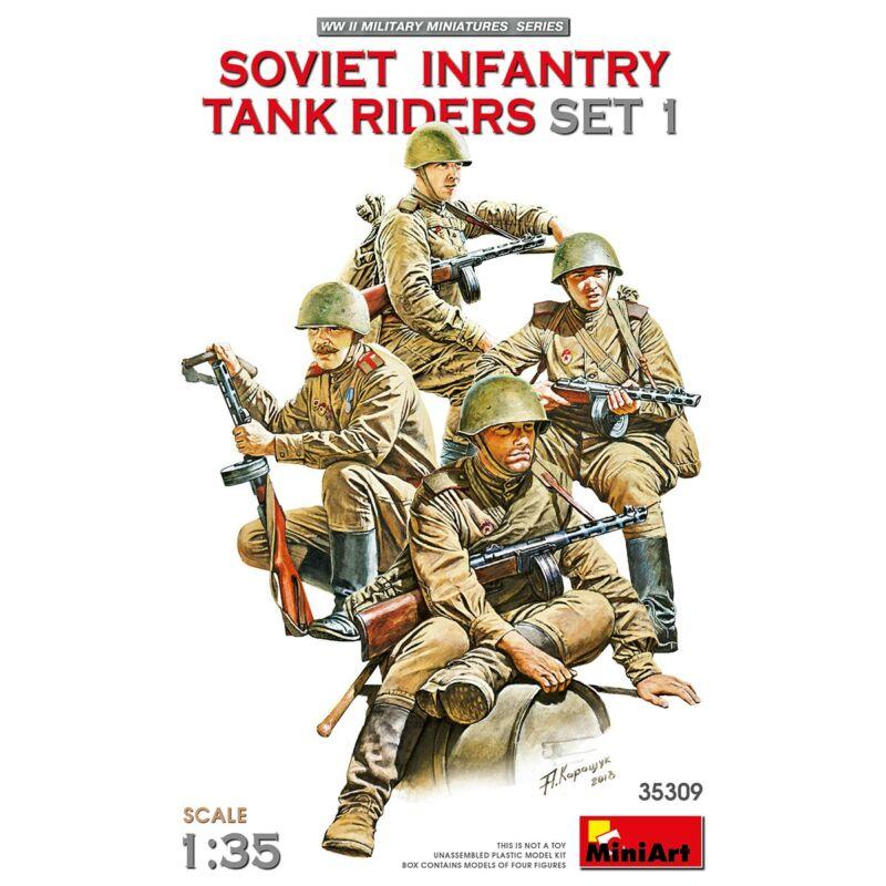 MiniArt Soviet infantry tank riders - set 1 - 1:35 (35309)